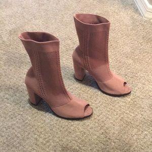 Charming Charlie pink sock booties